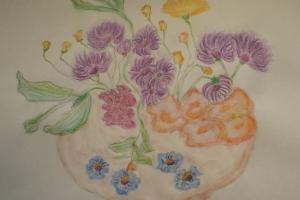 prace ilustrujące Rajski ogród autorstwa Pani Izabelli Bociańskiej