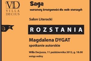 Gość salonu literackiego Sagi: Magda Dygat